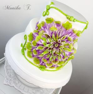 Fondant Torte mit Blume