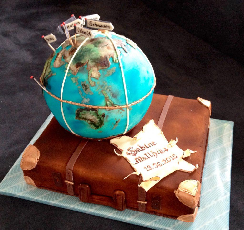 Weltkugel - Globus mit Koffer