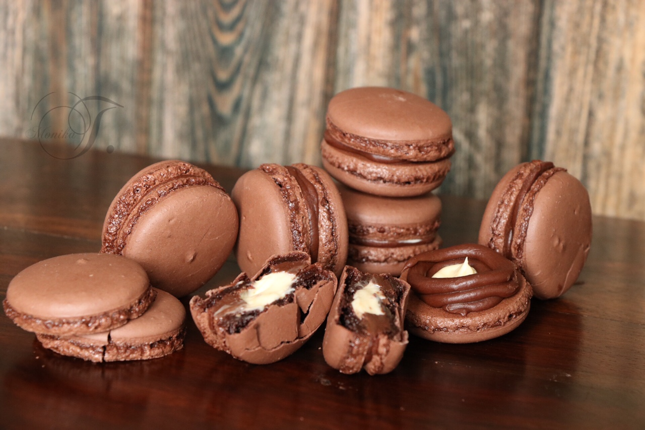Macaronskurs Macarons-Schokolade Schokoladenmacarons
