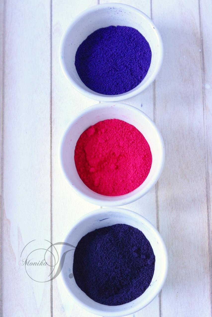 Kommunion Torte Puderfarben selbst herstellen