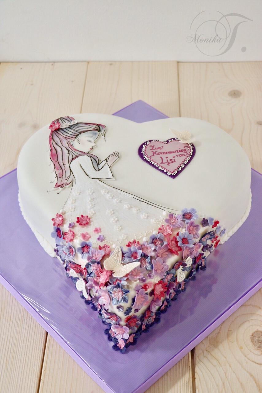 Blumenkind Kommunion Torte