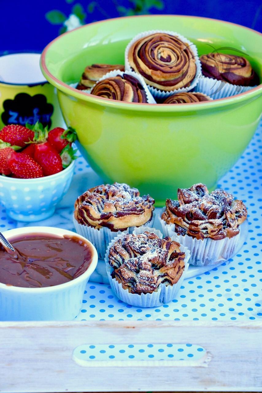 Schwarz, weiß Muffins