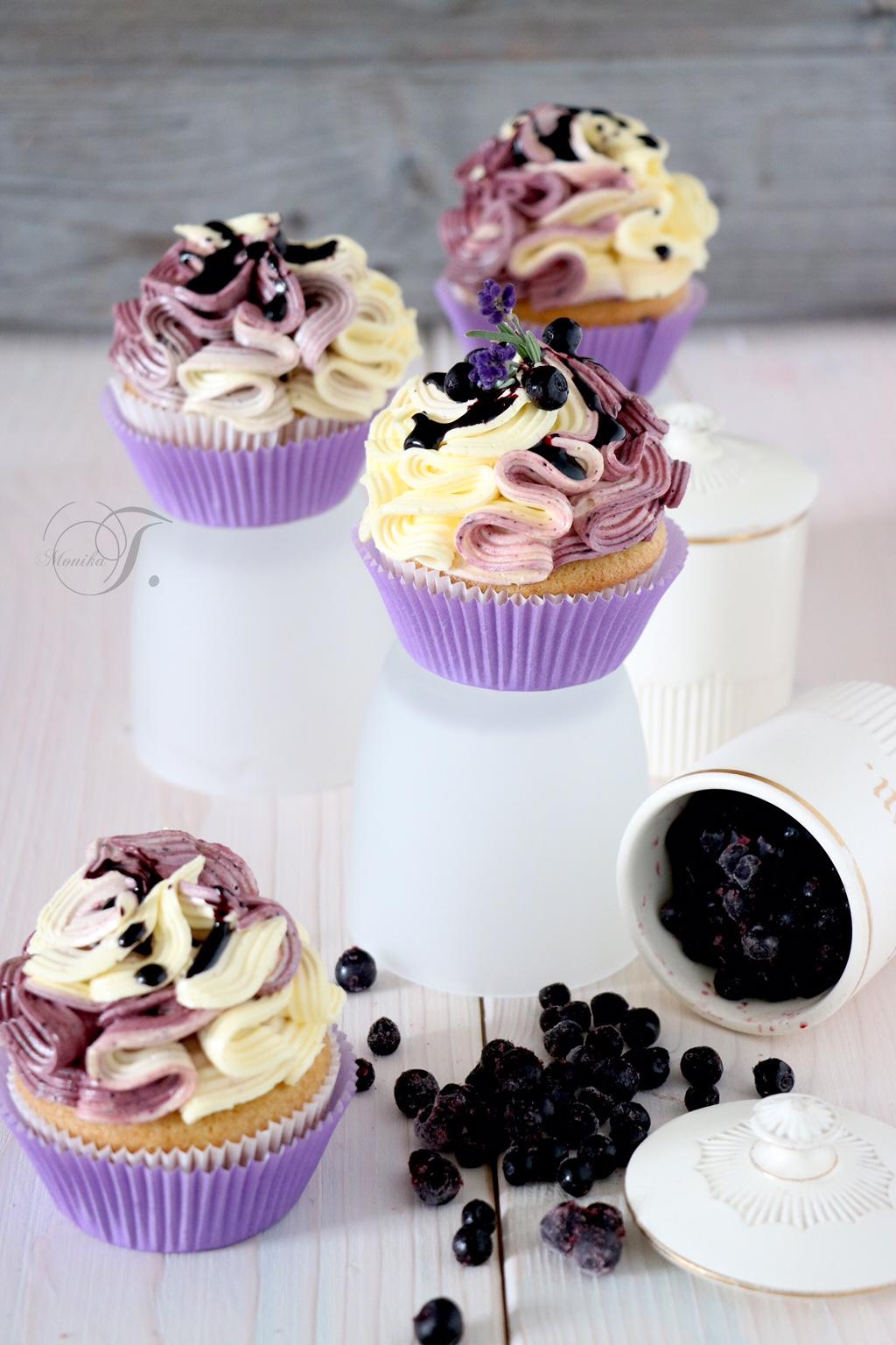 Heidelbeeren Cupcakes