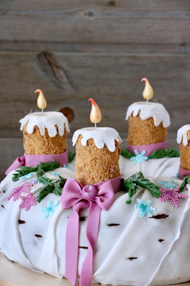 Adventskranz Torte