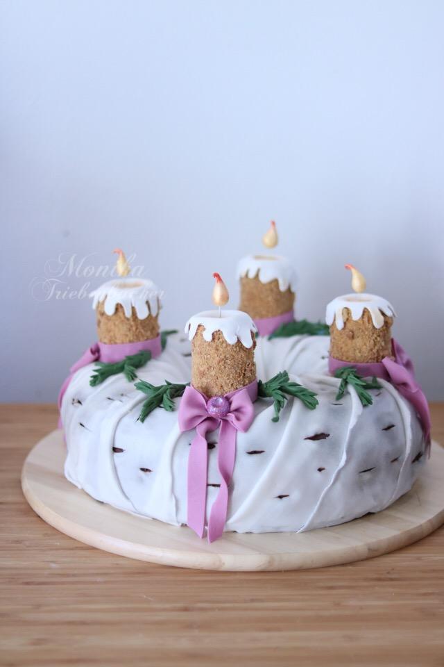 Advenskranz Torte