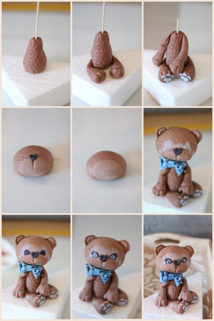 Fondant Torte mit Bär