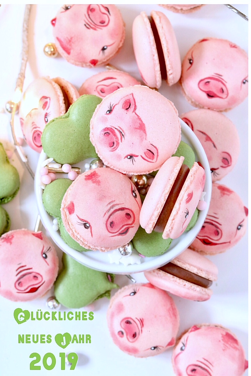 Macarons mit Schweinchen