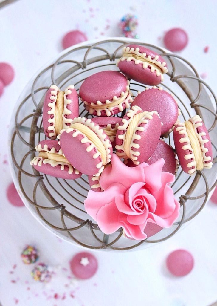 Macarons Drip pink - weiß